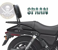 SISSI-BAR HD STREET 750 / 500...AVEC PORTE PAQUET NOIR...SP1096 NE NOIR...SPAAN-