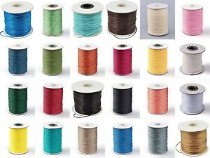 Korean Waxed Polyester Cord 1mm x 10 Metres BUY 4 GET 4 FREE!