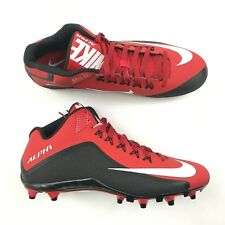 huge discount 04a1d 096fa NEW NIKE Mens ALPHA PRO 2 Football Cleat Size 15 Red Black Mid NIKESKIN  Lace  90