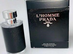PRADA L'HOMME  EAU DE TOILETTE 1.7 oz /50 ml NEW in box for Men