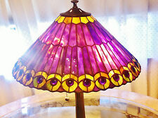 "Art Nouveau Tiffany Peacock Table Lamp, Perfect Condition, 27""H, Stunning!"