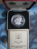 Gibraltar 1980 Admiral Nelson (1758 - 1805) Silver Proof Crown Coin COA cased