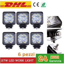 6x 27W LED LUCE Faro Da Lavoro work light Fari trattore LAVORO FARETTO 12V 24V