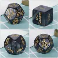 4Pcs Sex Game Love Dice Black Sex Position Dice for Couple Foreplay Prop Toys