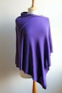 Cashmere blend purple shawl/poncho