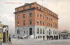 BOISE, ADA COUNTY, ID ~ FEDERAL BUILDING, PEOPLE, TROLLEYS ~ c. 1907-14
