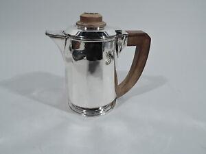 Antique Coffeepot - Art Deco Modern - French 950 Silver - Jean Emile Puiforcat