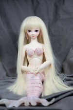 Doll Wig Long Straight Flaxen Blonde BJD Ball Jointed Doll Size 6-7 8-9