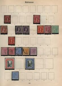 BAHAMAS: Victoria- Edward VII Examples - Ex-Old Time Collection - Page (39367)