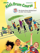 ALFRED'S KID'S DRUM COURSE 1--THE EASIEST METHOD MUSIC BOOK/CD-BRAND NEW ON SALE