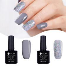 2Pcs/Set UR SUGAR 7.5ml Nail UV Gel Polish Grey Silver Glitter Soak Off Nail Art