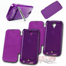 2X 3500MAH EXTERNAL BATTERY CHARGER CASES PURPLE FOR GALAXY S4 IV GT-I9500