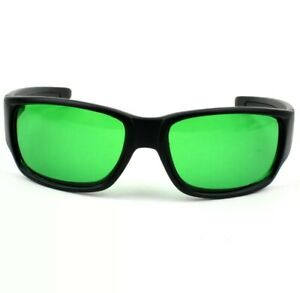 Indoor New Black LED Grow Room Glasses FREE Hard Carrying Case Pouch Green