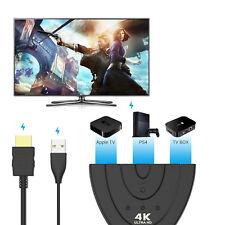 3 in 1 HDMI Hub Splitter Kabel Umschalter Verteiler Adapter Laptop PC HD 1080P