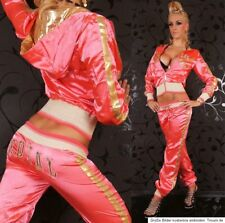 REDIAL Loisirs Costume Jogging Costume Pantalon Veste long satin brillant paillettes 36/38