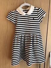 Ralph Lauren Polo Dress, Navy's did White Stripe, Age 24 months / Age 2.