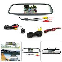 "CDD Voiture Caméra Recul + 4.3"" Car Mirror Monitor Kit Système de véhicule AF"