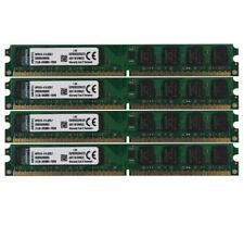 8G 4X 2GB PC2-6400 DDR2 800Mhz 240Pin DIMM Memory RAM Desktop Low density pc6400
