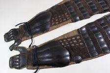 """3 Hon Tsutsu Kote of Yoroi (armor) : Edo : 27.6 × 7.9 """" 1.46kg"""