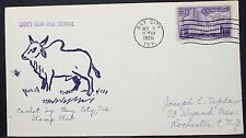 LION'S CLUB Rice Festival cachet US COVER Bay City Philatelic 3c USA lettera y-557