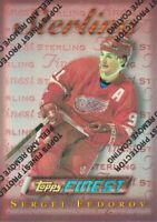 1995-96 Topps Finest Hockey Refractor #95 Sergei Fedorov B Detroit Red Wings