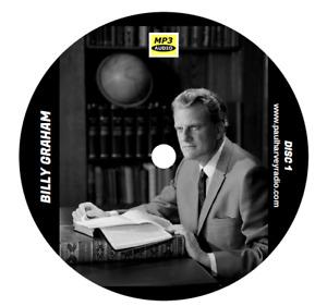 BILLY GRAHAM SERMONS (56 SERMONS) MP3 4 CD'S