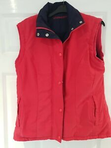 WOMENS LYLE AND SCOTT PINK CERISE GILET SIZE SMALL VGC