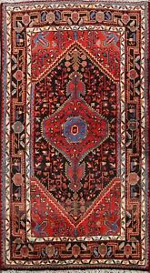 Excellent Geometric Tribal Hand-knotted Area Rug Traditional Oriental Carpet 4x5