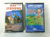 2 Cassette Tapes Jerry Clower Ray Stevens Country Comedy