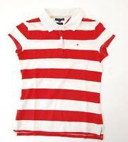 Tommy Hilfiger Poloshirt Polohemd Damen Gr.M rot gestreift -S1080