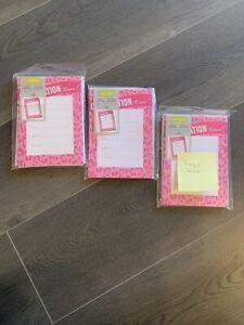 (Lot Of 3) Gartner Studios - Invitations- 10 ct Pink Animal Leopard w envelopes