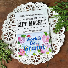 GRANNY  MAGNET Pretty floral fridge Relatives Family Gift  Decorative Greetings