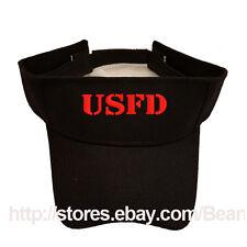 USFD Bombero Bomberos Black Sun Visor la policía militar 4eb9faad635