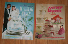 Vintage 1973 Cake & Food Decorating Yearbook & 1986 Book of Wedding Cakes