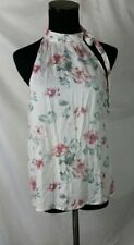 Trafaluc ZARA sleeveless floral top with high necktie in a size Small