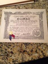 Pennsylvania State College Alumni 1939 Humor Diploma