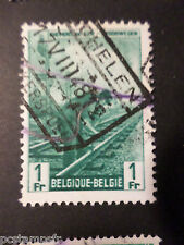 BELGIQUE 1945, timbre COLIS POSTAUX 273 TRAINS, oblitéré, PARCEL POST USED STAMP