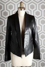 NWT Vince Leather Shawl Collar Jacket 8 Lambskin Black $995 Blazer