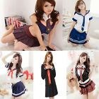 Women Sexy Lingerie Babydoll Dress School Girl Uniform Cosplay Costume Nightwear