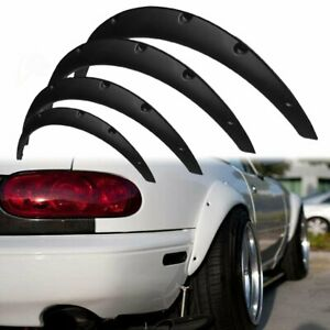 4PCs Universal Car Truck Wheel Fender Flares Cover Wide body Kit wheel arches