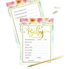 10Pack Baby Prediction and Advice Cards Shower Game Advice Cards for Girl or Boy