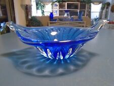 USSR Cobalt Wing Bowl Hand Blown 24% Lead Crystal
