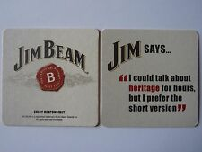 Jim Beam Jim Says... Beermat Coaster