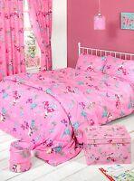 Fairy Land Pink Butterflies Design Girls Duvet Bedding Set Single Double King