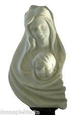 Statua Busto Madonna Marmo Bianco Statuario Classic Old White Marble Sculpture