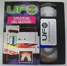 film VHS UFO DOSSIER STRATEGIA DEL SILENZIO CARTONATA  1992 (F21)  no dvd