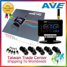AVE Universal Wireless Color LCD Monitoring System TPMS 5 Sensors & LF & Antenna