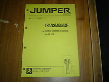 REVUE TECHNIQUE CITROËN JUMPER transmission boite de vitesses type ME 5 TU