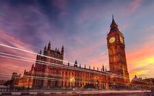 Poster London London UK United Kingdom Eye Big Ben Bridge Photo Wallpaper Picture 5
