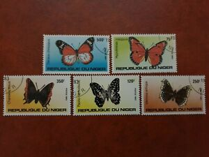 Niger - 1983 - butterflies - 5 stamp set - CTO